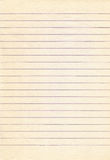 Old lined notebook paper background. Royalty Free Stock Image