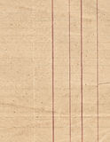 Old lined paper. Close view Stock Photography