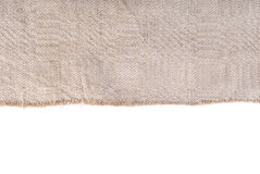 Old linen ancient fabric border frame Stock Photo