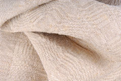 Old linen ancient fabric Stock Images