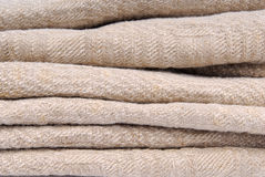 Old linen ancient fabric Royalty Free Stock Image