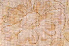 Old linen fabric texture Stock Image