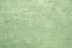 Old linen green burlap texture material background Stock Image