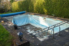Old swimming pool liner Royalty Free Stock Images