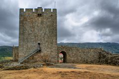Old Linhares castle Royalty Free Stock Images