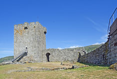 Old Linhares castle in celorico da Beira- Portugal Royalty Free Stock Images