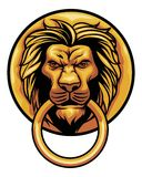 Old lion head door ornament Royalty Free Stock Photo