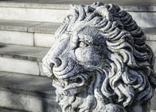 Old lion statue Royalty Free Stock Image