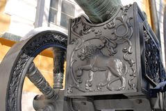 Old Lioncannon in Moscow Kremlin. UNESCO Heritage Site. Stock Images
