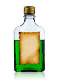 Old liquor bottle with label. Stock Images