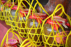 Old liquor jar in thailand Stock Photo