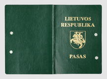Old Lithuanian passport cover Royalty Free Stock Photos