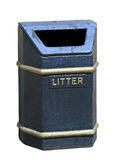 Old litter bin Stock Photo