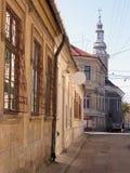 Old little backstreet. Old little street in Cluj Napoca,Romania-Eastern European city aspect Stock Photos