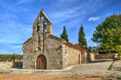 Old little church in Boticas Stock Images
