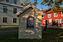 Old Little Cottage. Orebro, Sweden - October 21, 2011: Old little cottage at Wadkoping open-air museum in Orebro, Sweden. The museum has a collection of old Stock Photos