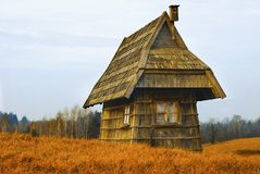 Old Little House. Little House in the Big Woods Stock Images