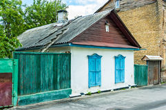 Old Little Houses in Kiev Stock Photography