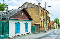 Old Little Houses in Kiev Stock Images