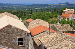 Old little village Valanio - Corfu, Greece Royalty Free Stock Images