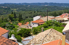 Old little village Valanio - Corfu, Greece Stock Image