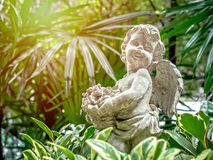 Cupid statue stock image