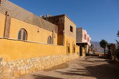 Old Arab building in Dahab, Egypt. stock image