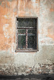 Old living house wall with window Royalty Free Stock Photo