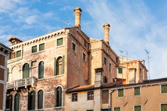 Old living houses in Venice city Stock Photo
