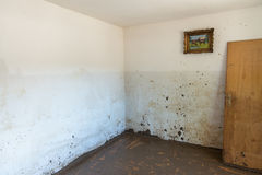 Old Living Room Destroyed From Flood Royalty Free Stock Photos