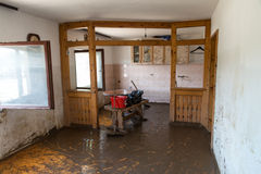 Old Living Room Destroyed From Flood Royalty Free Stock Photo
