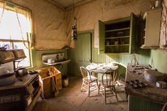 Old living room in Ghost Town Bodie Stock Photography