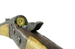 Old loaded rifle Stock Images