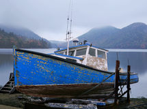 Free Old Lobster Boat Stock Image - 15280661
