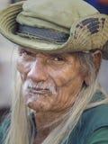 Old local man in Bangkok, Thailand Royalty Free Stock Photos