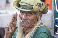 Old local man in Bangkok, Thailand Royalty Free Stock Image