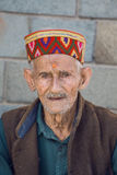 Old local man in Manali, India Royalty Free Stock Images