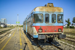 Old local train of italy Royalty Free Stock Photography