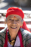 Old local woman in Manali, India Royalty Free Stock Image