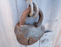 The old lock Royalty Free Stock Image