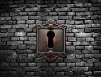 Old lock and brick wall Royalty Free Stock Photography