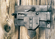 Old lock in burned tones Stock Images