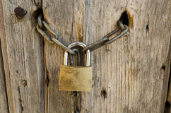 Old lock with chain Stock Image