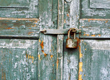 Old lock on a door Royalty Free Stock Photo