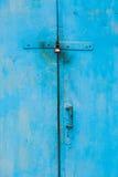 Old lock on the door. Stock Photo