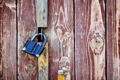 Old Lock the door Stock Image
