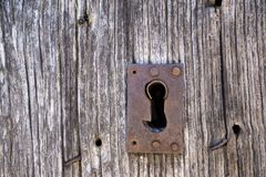 Old lock and door Royalty Free Stock Photo
