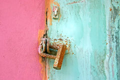 Old lock on the door. Vintage background . Royalty Free Stock Photo