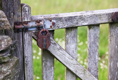 Old Lock on a Gate Royalty Free Stock Images
