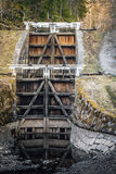 Old lock gate in Fagersta Royalty Free Stock Photography